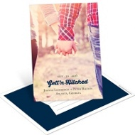 Gett'n Hitched Vertical Save the Date Postcards
