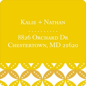 Diamond Design -- Save the Date Address Labels