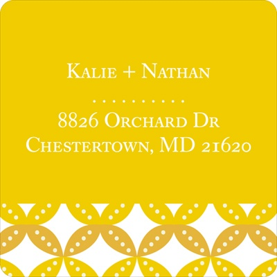 Diamond Design Save the Date Address Labels