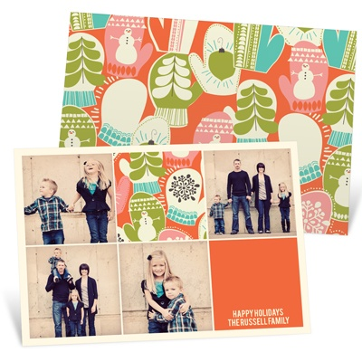 Mittens and Memories Photo Christmas Cards