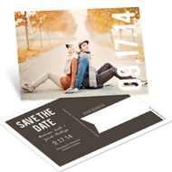 Big Date Horizontal Photo Save the Date Postcards