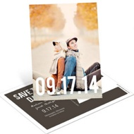 Big Date Vertical Photo Save the Date Postcards