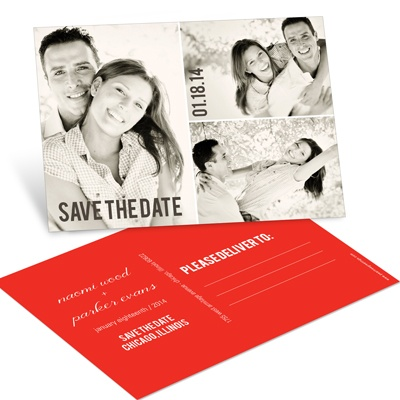 Blocks of Love Photo Save the Date Postcards