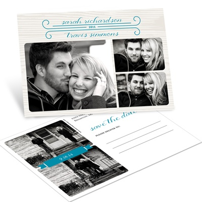Delightful Date Photo Save the Date Postcards