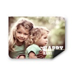 Chalked Message Horizontal Photo Magnet -- Hanukkah Cards