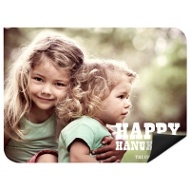 Chalked Message Horizontal Photo Magnet Hanukkah Cards