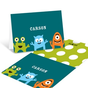 My Little Monsters in Blue  -- Thank You Cards