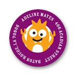 My Little Monsters in Purple -- Address Labels