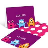 My Little Monsters in Purple Thank You Cards