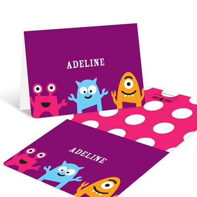 My Little Monsters in Purple -- Thank You Cards