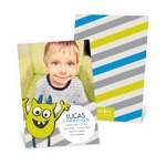 Monster Party in Green -- Kids Birthday Invitations