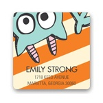 Monster Party in Orange -- Address Labels
