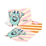 Monster Party in Orange -- Thank You Cards