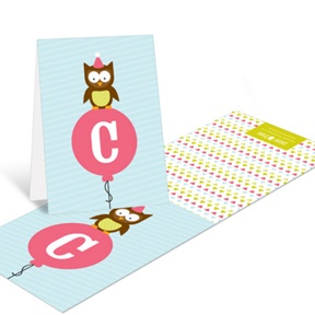 Pink Party Owl -- Thank You Cards