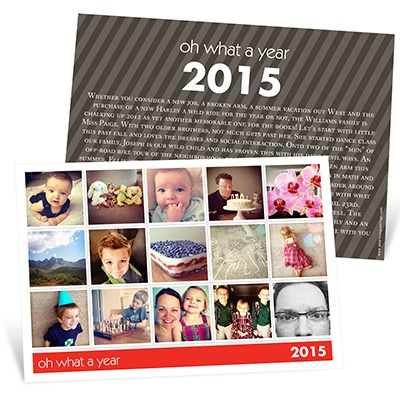 Snapshots of a Year Photo Christmas Cards