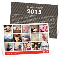 Snapshots of a Year Holiday Photo Cards