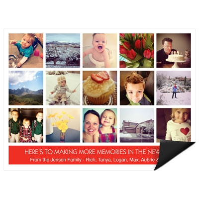 Snapshots of a Year Magnet Photo Christmas Cards