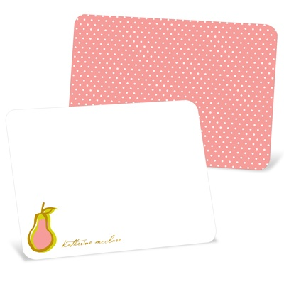 Perfect Pear in Pink Note Cards