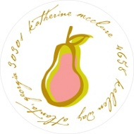 Perfect Pear in Pink Address Labels