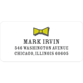 Gentleman's Style -- Address Labels