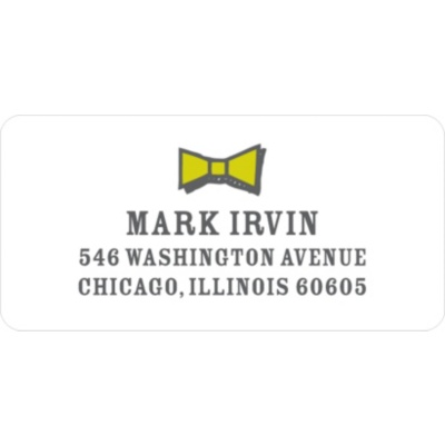Gentleman's Style Address Labels