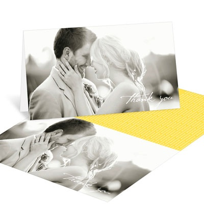 Modern Mix Horizontal Wedding Thank You Cards