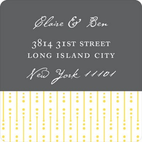 Modern Mix -- Wedding Address Labels