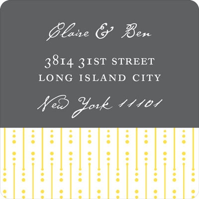 Modern Mix Wedding Address Labels