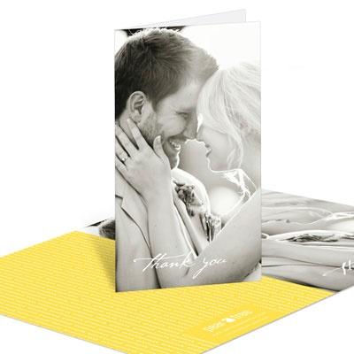 Modern Mix Vertical Wedding Thank You Cards