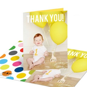 First Big Party -- Thank You Cards