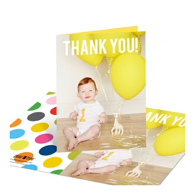 First Big Party Thank You Cards