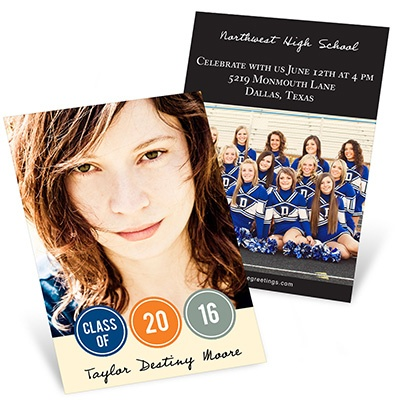 Year in Dots Mini Graduation Announcements