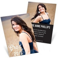 Favorite Photo Vertical Mini Graduation Announcements