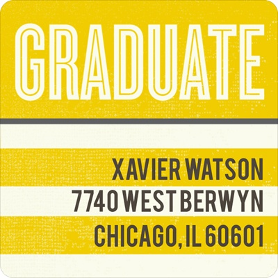 Big Plans Graduation Address Labels