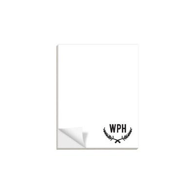 Chalk Monogram Custom Notepads