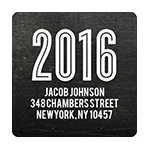 Chalk Talk -- Graduation Address Labels