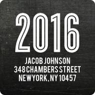 Chalk Talk Graduation Address Labels
