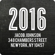 Chalk Talk Graduation Address Labels