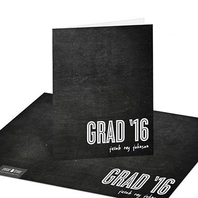 Chalk Talk Graduation Thank You Cards