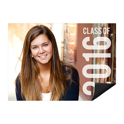 Big Year Photo Magnet Mini Graduation Announcements