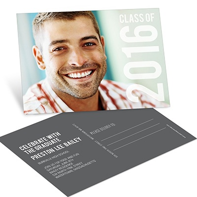 Big Year Horizontal Postcard College Graduation Announcements