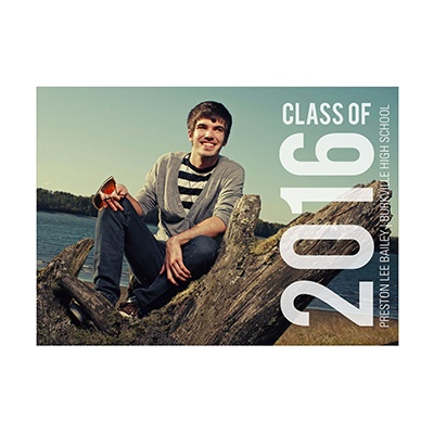 Photo Paper Big Year Graduation Announcements