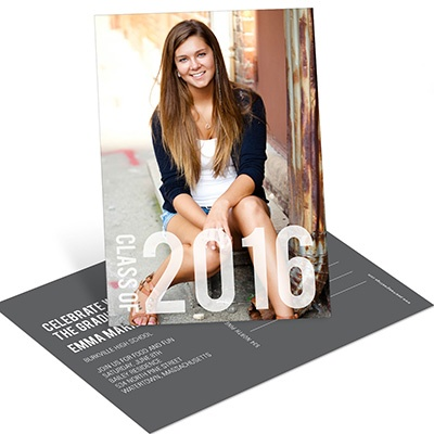 Big Year Vertical Postcard -- Graduation Announcements & Invitations