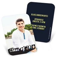 Photos With Class Mini Graduation Announcements