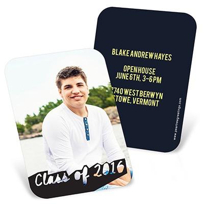 Photos With Class Mini Graduation Announcements