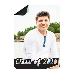 Photos With Class Photo Magnet -- Mini Graduation Announcements