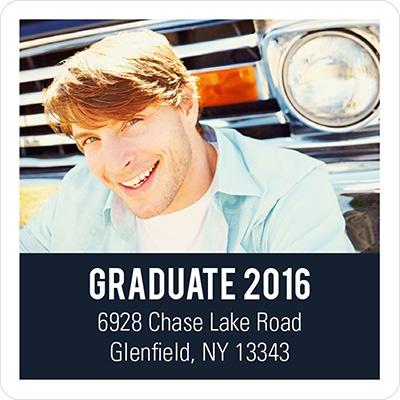 Class Cutout Graduation Address Labels