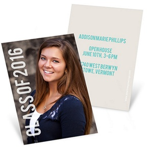 Grad With Class -- Mini Graduation Announcements