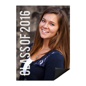 Grad With Class Photo Magnet -- Mini Graduation Announcements