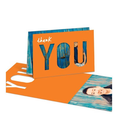 Thank You Cutout Graduation Thank You Cards